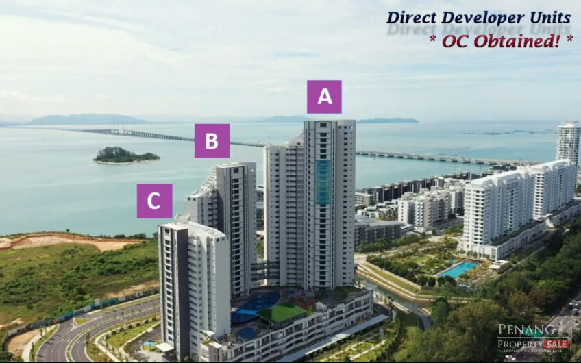 Penang Island, Waterside Residence, New Waterfront Condo at The City of Light, Penang. OC Obtained